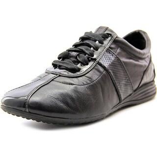 Cole Haan Bria Grand Sort Ox II Women Leather Black Fashion Sneakers