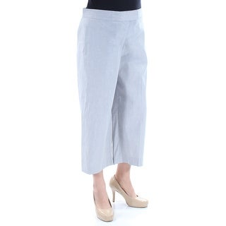 Womens Gray Casual Wide Leg Pants Size 12