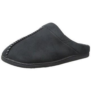 Dearfoams Mens Microsuede Lined Clog Slippers