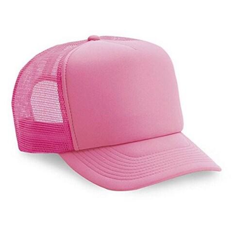 Popular 5 Panel Trucker Cap Hat Foam Neon Mesh Snap Back One Size