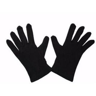 Swanson Christian Supply 67430 Black Cotton Gloves - Large