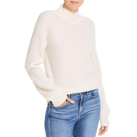 Rag & Bone Womens Sweater Cashmere Ribbed - Ivory