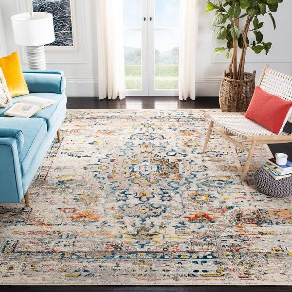 SAFAVIEH Madison Regelinde Oriental Distressed Rug. Opens flyout.
