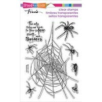 "Spider Fear - Stampendous Perfectly Clear Stamps 7.25""X4.625"""