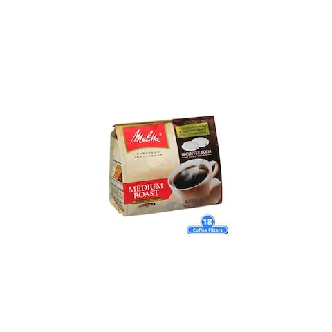 Melitta 75448 Soft Coffee Pods-Medium Roast (Single Pack) Soft Coffee Pods Medium Roast 18 Counts