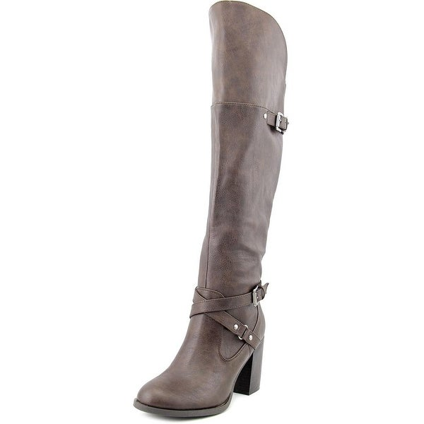 Indigo Rd. Leana Women Round Toe Synthetic Brown Knee High Boot