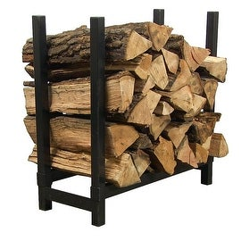 Sunnydaze Black Steel Firewood Log Holder - Multiple Options Available