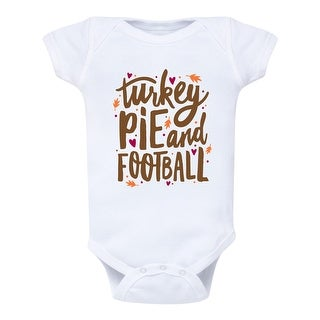 Turkey Pie And Football - Infant One Piece