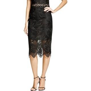 Bardot Womens Pencil Skirt Lace Lined