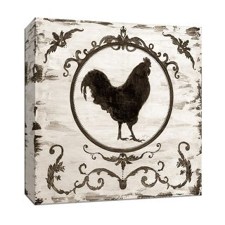 "PTM Images 9-147063  PTM Canvas Collection 12"" x 12"" - ""Berkshire Rooster"" Giclee Farm Animals Art Print on Canvas"