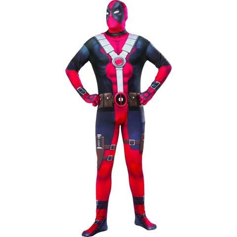 Marvel Deadpool 2nd Skin Costume BodySuit Standard Mens Licensed Halloween Rubie's Outfit Entire