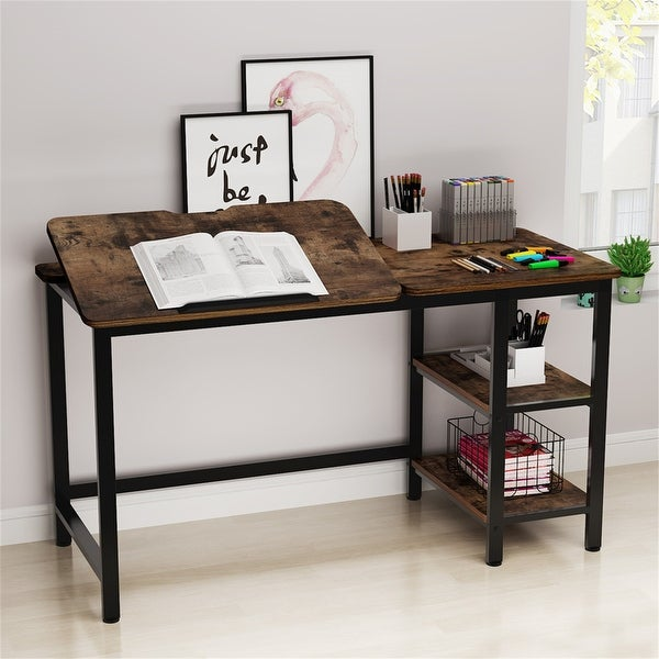 Drafting and Craft Station Table with Adjustable Tiltable Stand. Opens flyout.