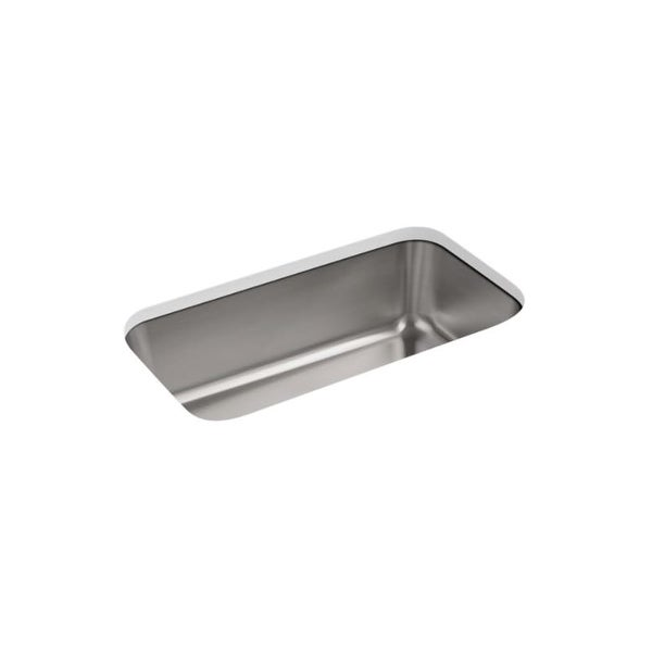 "Kohler K-5290 Undertone 31-1/4"" Undermount Single Basin Kitchen Sink with SilentShield? Technology"