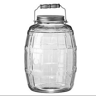 Anchor Hocking 85679 2.5 Gallon Glass Barrel Jar With Lid Barrel Jar