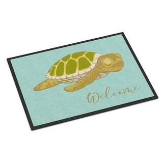 Carolines Treasures BB8562MAT Sea Turtle Welcome Indoor or Outdoor Mat - 18 x 27 in.