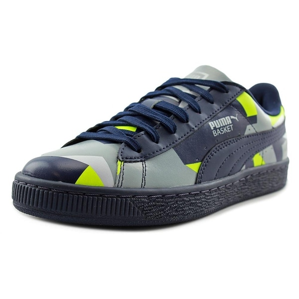 Puma Basket Classic Graphic Round Toe Synthetic Tennis Shoe