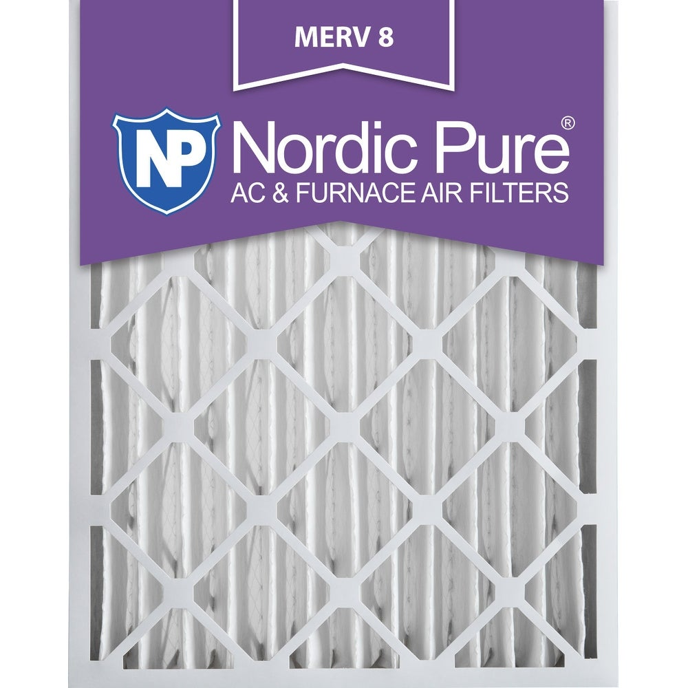 Nordic Pure 16x25x4 Pleated MERV 8 AC Furnace Air Filters Qty 1