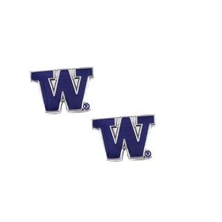 Washington Huskies Post Stud Earring NCAA Charm Set