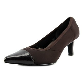 Ros Hommerson Keisha Women Pointed Toe Patent Leather Brown Heels
