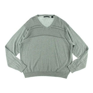 Perry Ellis Mens V-Neck Heathered Pullover Sweater - XXL