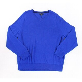 Club Room NEW Royal Blue Men's Size XL V-Neck Long Sleeve Sweater