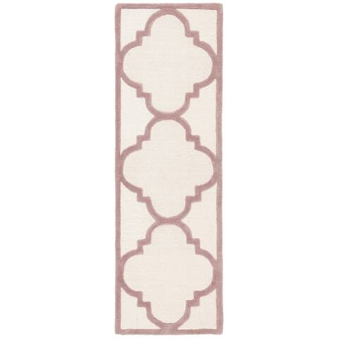 SAFAVIEH Handmade Cambridge Rosy Modern Moroccan Wool Rug