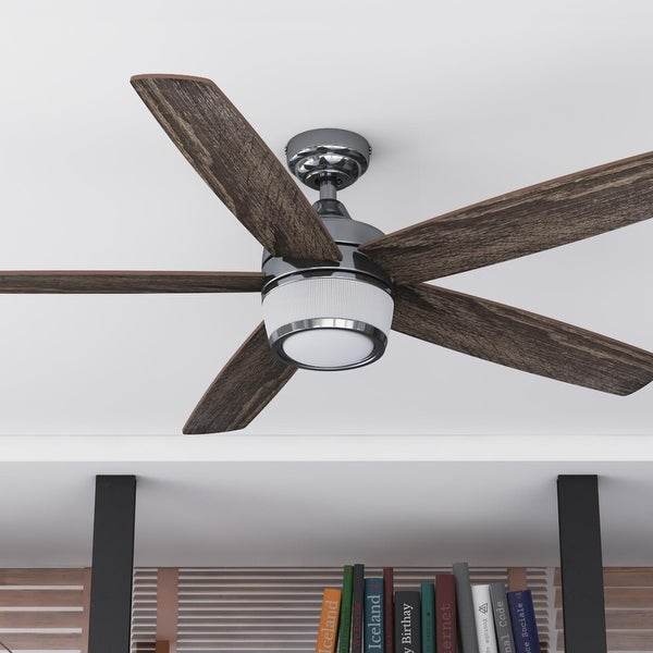 "48"" Prominence Home Tennyson Indoor Modern Ceiling Fan with Remote, Gun Metal - 48. Opens flyout."