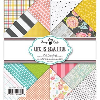 "Fancy Pants Designs Single-Sided Paper Pad 6""X6"" 32/Pkg -Life Is Beautiful, 16 Designs/2 Each"
