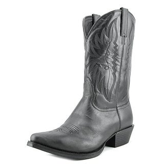 Nocona Competitor Men B Round Toe Leather Black Western Boot