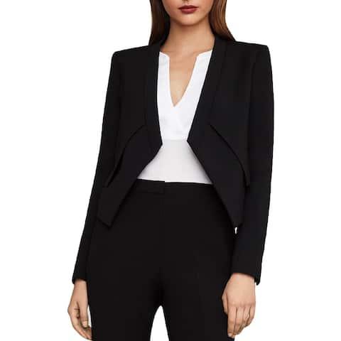 BCBG Max Azria Womens Lloyd Tuxedo Jacket Twill Asymmetrical