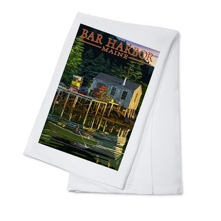 Bar Harbor, Maine - Lobster Shack - Lantern Press Artwork (100% Cotton Towel Absorbent)