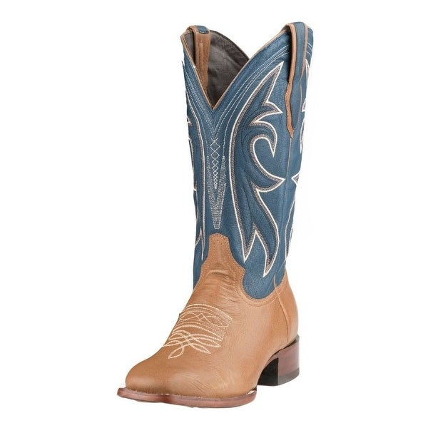 Stetson Western Boots Mens Casper Leather Tan