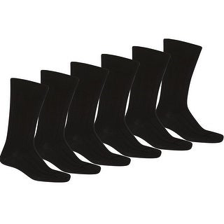 Knocker Mens Plain Dress Socks Black 12 Pairs (10-13)