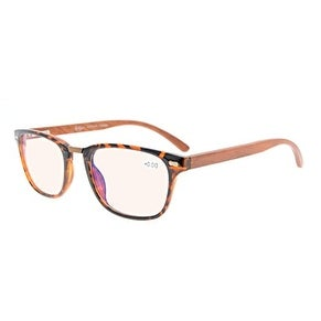 2d81edfc31bb Shop Eyekepper Readers Spring Hinges Wood Arms Amber Tinted Lenses Vintage Eyeglasses  Tortoise+1.25 - Free Shipping On Orders Over  45 - Overstock - ...