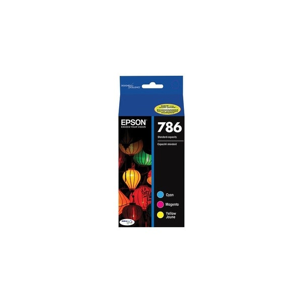Epson 786 Cyan & Yellow Ink Cartridge Combo Pack w/ 800 Pages Yield for WorkForce Pro Printers