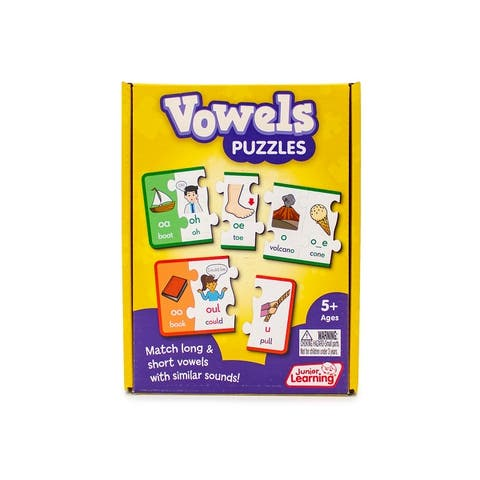 Vowel Puzzles Educational Learning Set - White