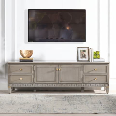 """Jennifer Taylor Home Dauphin 71"""" TV Stand Storage Console Table"""