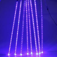 AGPtek 8 50cm 240LED Colorful Tube Meteor Shower Rain Lights Snowfall Light for Wedding Party Decoration