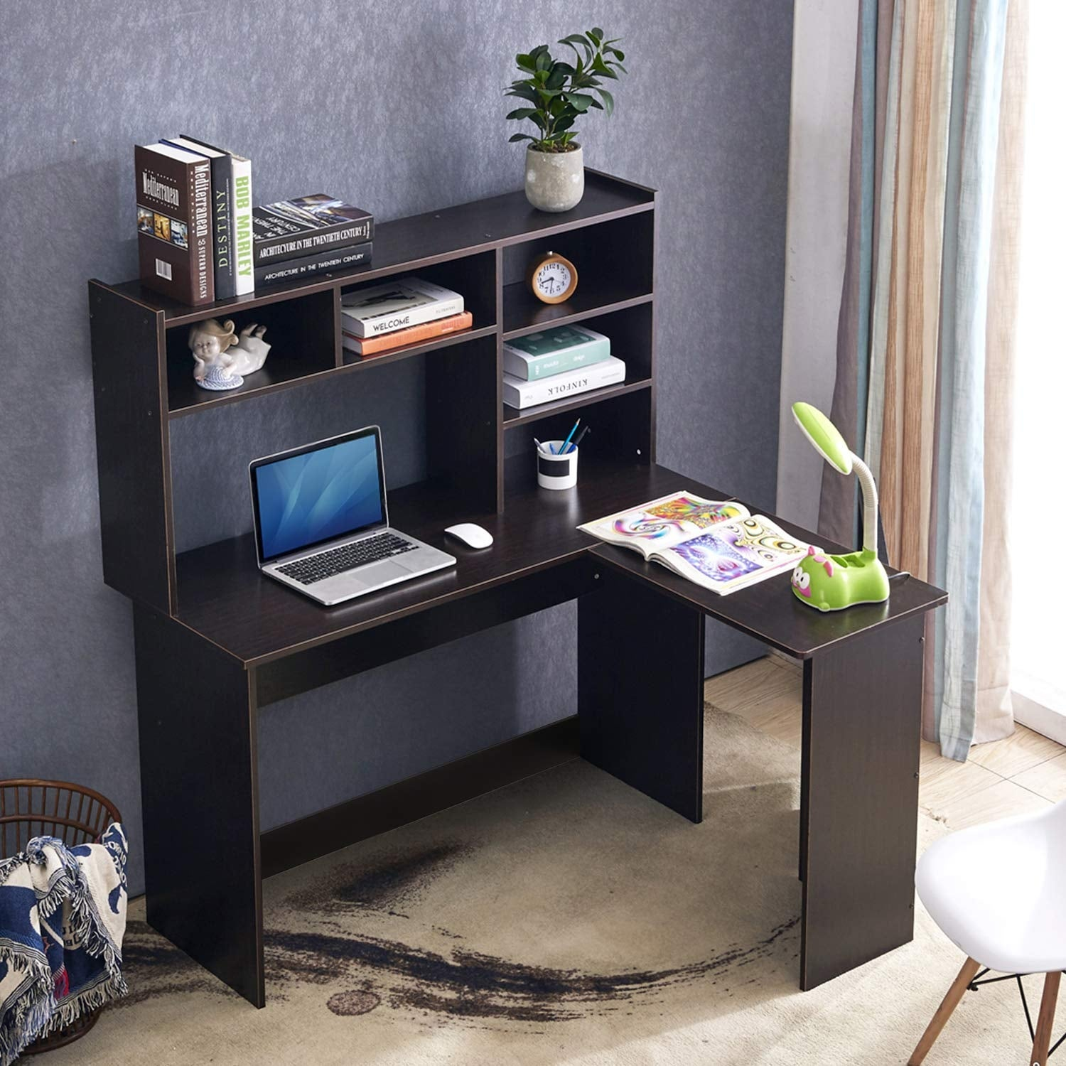 Shop Mcombo Modern Computer Desk With Hutch L Shaped Gaming Desk Corner Desk With Shelves For Small Space Home Office Overstock 30386723,Best Home Decor Pinterest Boards