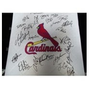 Signed Cardinals St Louis 2012 Replica Full Size Base by the 2012 St Louis Cardinals Team autograph