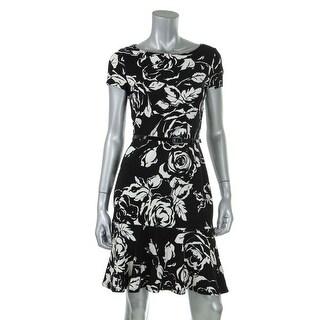 Lauren Ralph Lauren Womens Ponte Floral Print Wear to Work Dress - XS