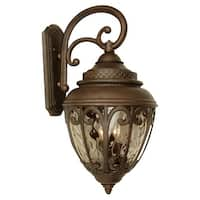 "Craftmade Z3834 Olivier 25"" 3-Light Outdoor Wall Sconce - Aged Bronze - N/A"