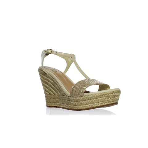 UGG Womens Fitchie Soft Gold Espadrilles Size 10