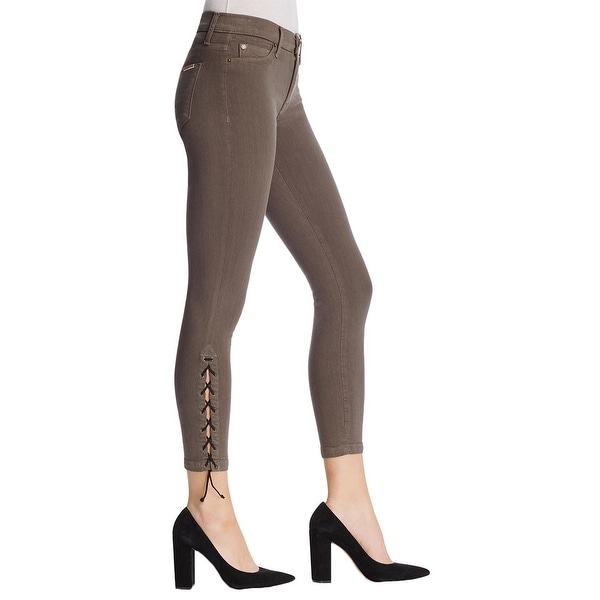 7ac687089bd Shop Hudson Womens Nix Colored Skinny Jeans Lace Up Lyocell - Free ...