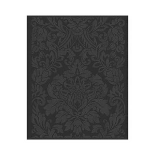 Graham and Brown 33-331 56 Square Foot - Gloriana Black - Non-Pasted Non-Woven Wallpaper - n/a - N/A