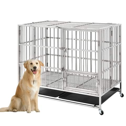 Heavy duty Stainless Steel pet crate 43inch