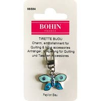 Bohin Decorative Charm-Blue Butterfly