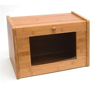 Lipper - 8847 - Bamboo Bread Box With Window With A Classy Look