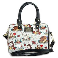 Loungefly Beauty and the Beast Belle And Characters Tattoo Handbag Bag - One Size Fits most