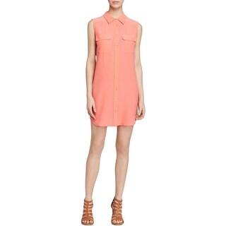 Equipment Femme Womens Shirtdress Silk Sleeveless - s